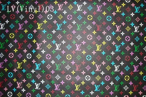 54f94e7d28e3 Louis Vuitton Vinyl No.3 (Classical LV Vinyl black rainbow color big letter)